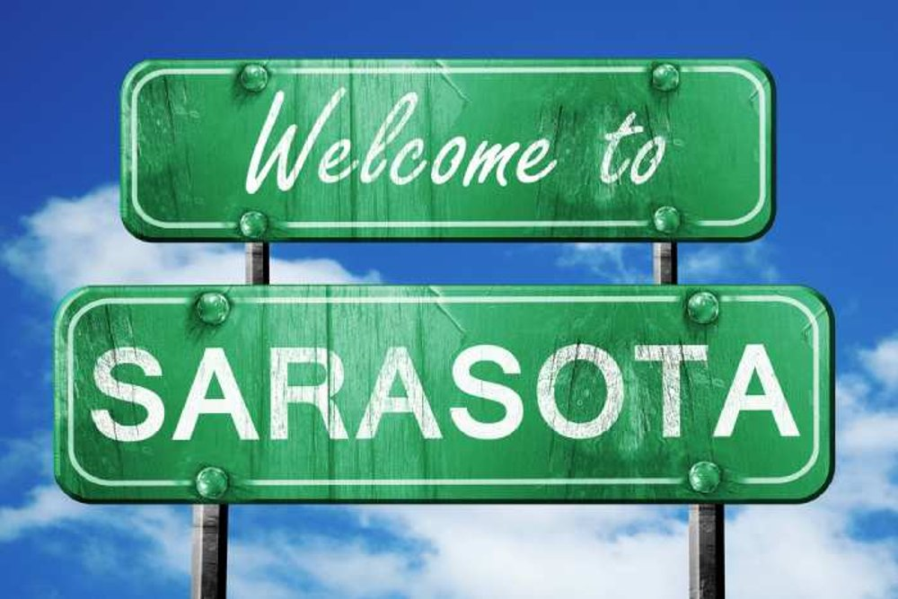 Welcome to Sarasota road sign